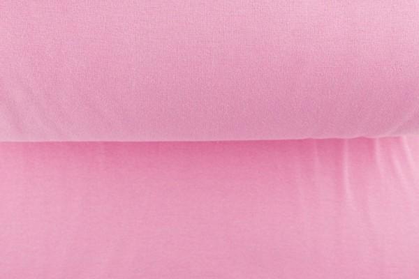 Bündchenstoff glatt, rosa