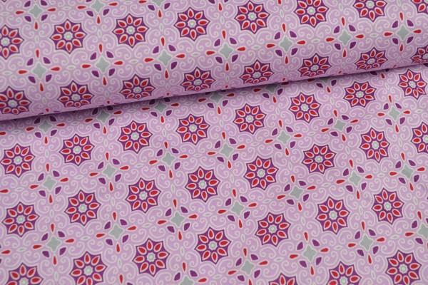 Baumwolle gemustert, rosa