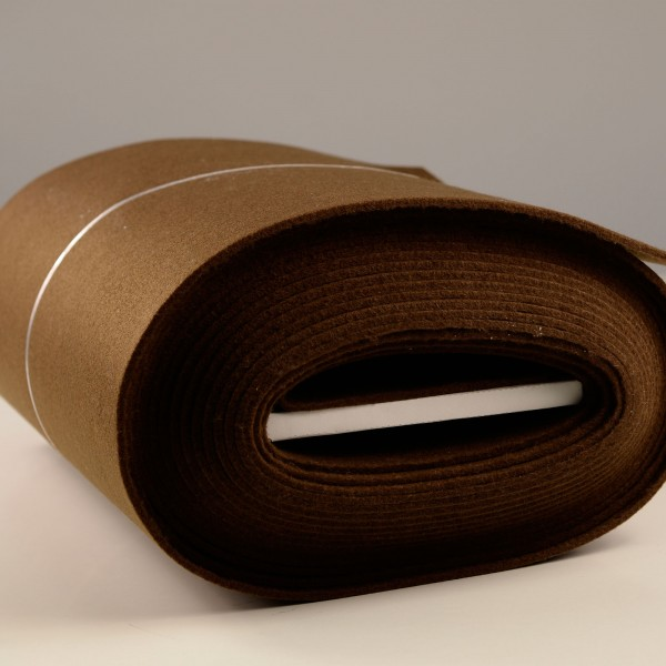 Bastelfilz Meterware 4 mm dick harte Qualität, braun