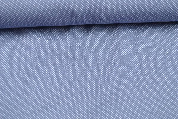 Jacquard-Jersey, Tupfen blau