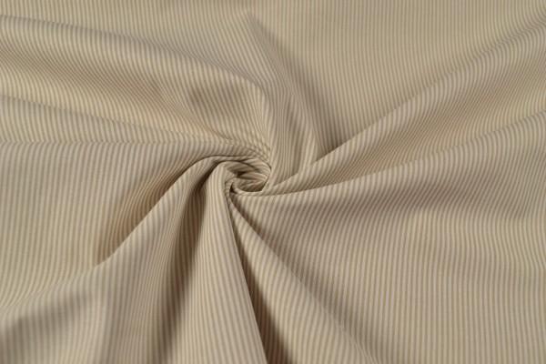 Baumwollstoff gemustert Streifen, beige/ weiß