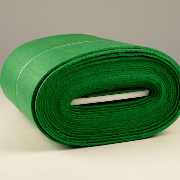 Bastelfilz Meterware 4 mm dick harte Qualität, grün