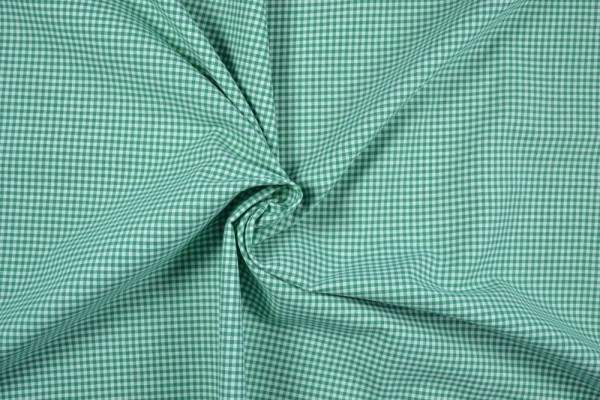 Baumwollstoff Zefir Vichy Karo, 0,25 cm, grün
