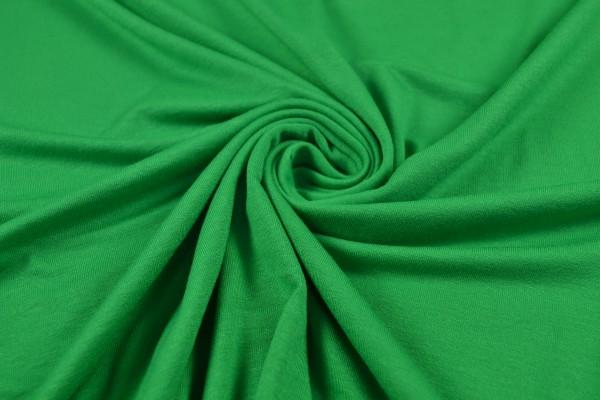 Viskosejersey uni, grasgrün
