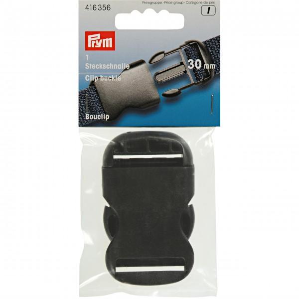 Prym Steckschnalle stark, 30mm, schwarz