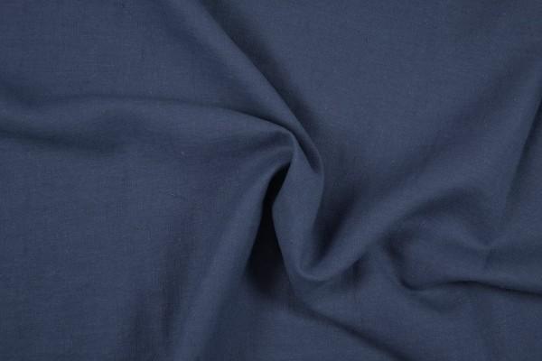 Leinenstoff Ramie gewaschen , jeansblau