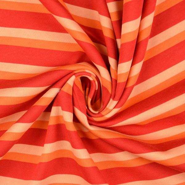 Sweatshirt Streifen, rot/orange