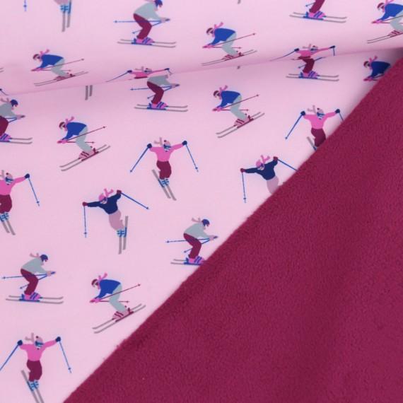 Softshell gemustert Skispringer, rosa