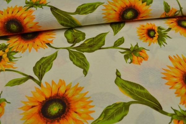 Canvas Deko Stoff, Sonnenblumen