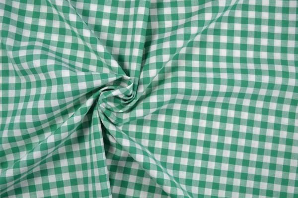 Baumwollstoff Zefir Vichy Karo, 0,9 cm, grün