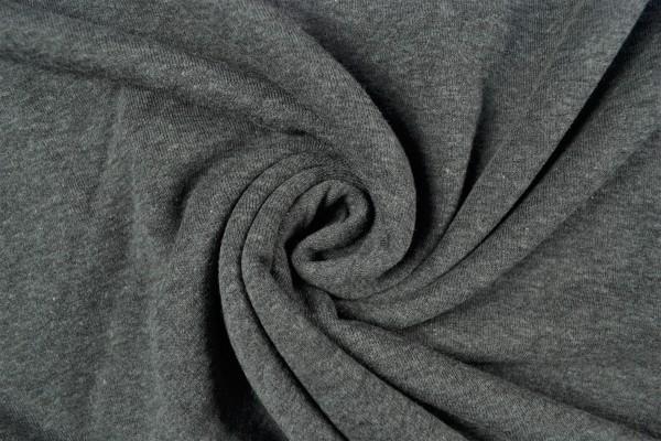 Sweatstoff uni, grau