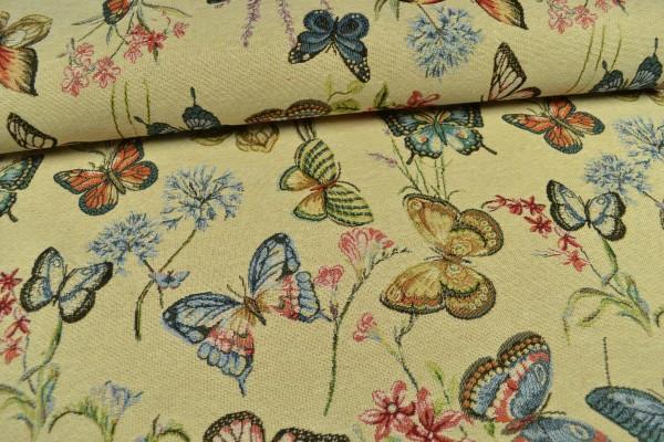 Gobelin Möbelstoff, Schmetterlinge
