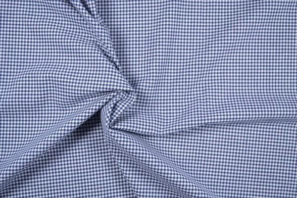 Baumwollstoff Zefir Vichy Karo, 0,25 cm, dunkelblau