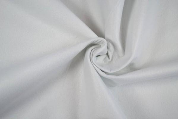 Filz 1,80m breit, weiß