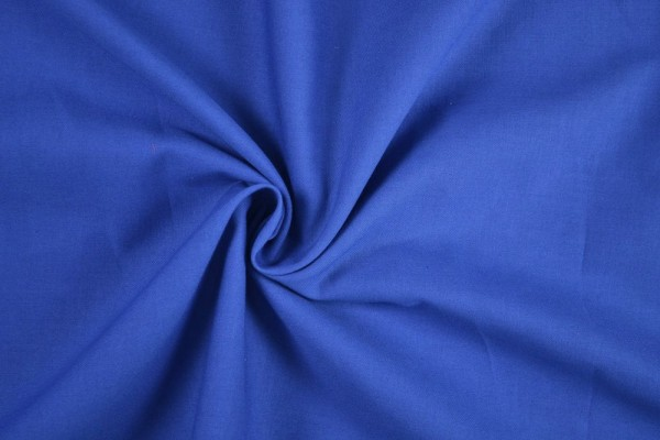 Baumwollstoff Köper, blau