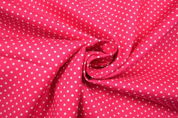 Baumwollstoff kleine Tupfen, pink