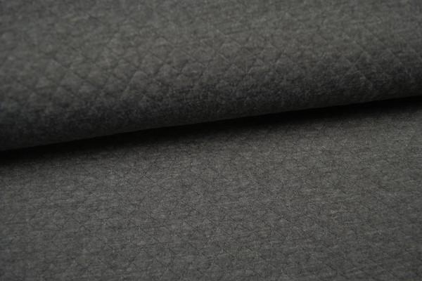 Jacquard Jersey gemustert, grau