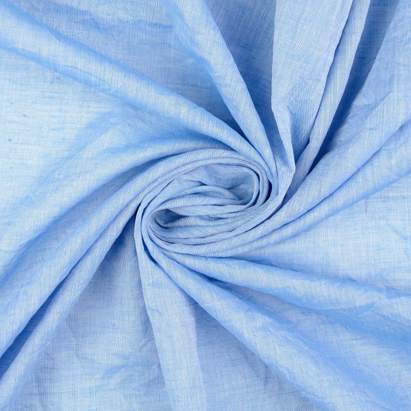 Baumwollstoff melange, blau