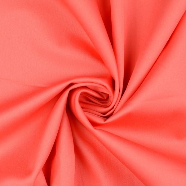 Baumwollsatin elastisch uni, rot/orange