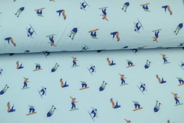 Softshell gemustert Skispringer, hellblau