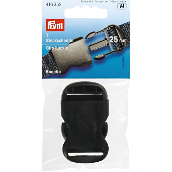 Prym Steckschnalle stark, 25mm, schwarz