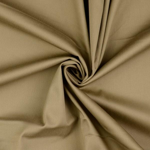 Baumwollsatin elastisch uni, taupe