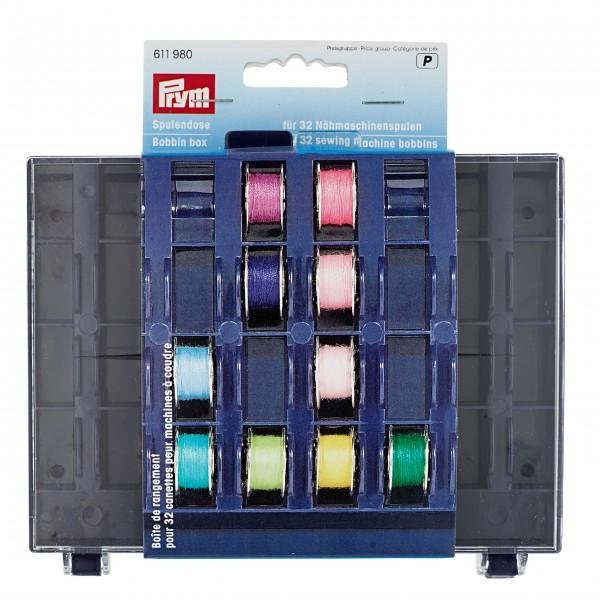 Prym Spulenbox für 32 Nähmaschinenspulen