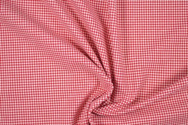 Baumwollstoff Zefir Vichy Karo, 0,25 cm, rot