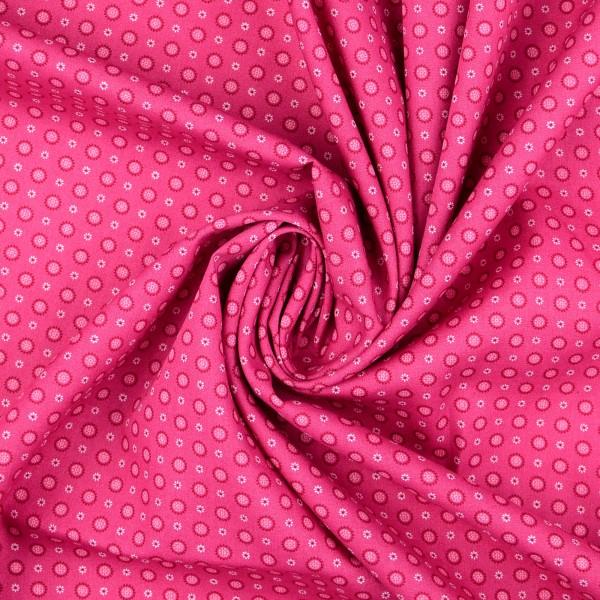 Baumwollstoff Popeline Sonne, pink