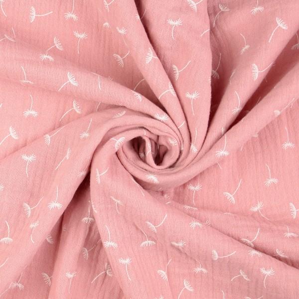 Baumwoll Musselin Double Gauze Pusteblume, rosa