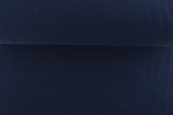 Bündchenstoff glatt, marine/dunkelblau