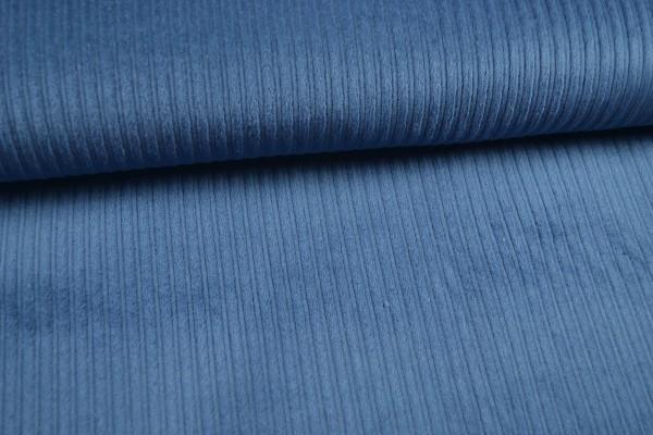 Breitcord uni, jeansblau