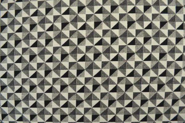 Gobelin Möbelstoff, kleine Dreiecke,grau