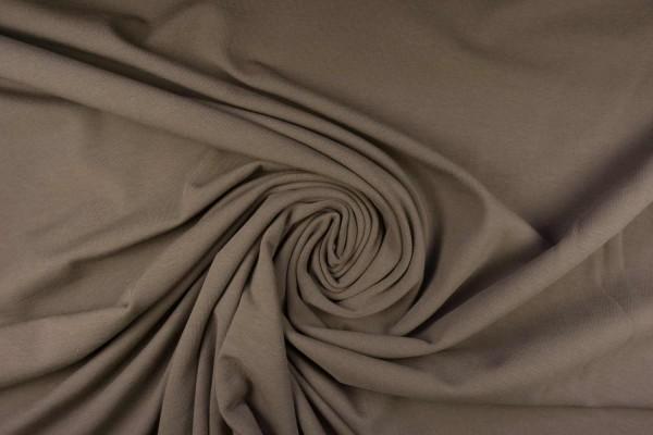 Baumwoll Jersey uni, taupe-beige