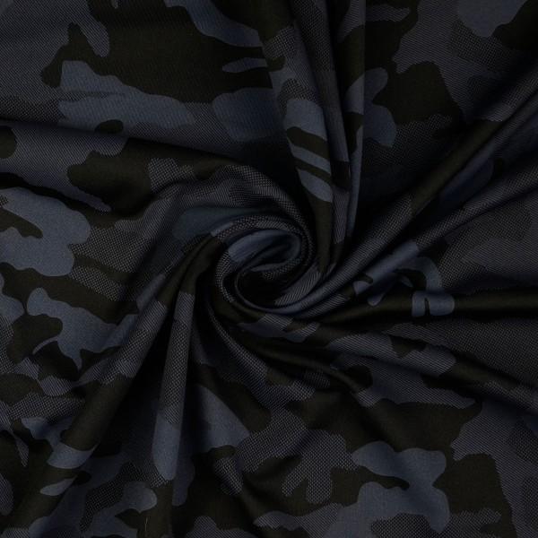 Funktionsjersey Camouflage, schwarz