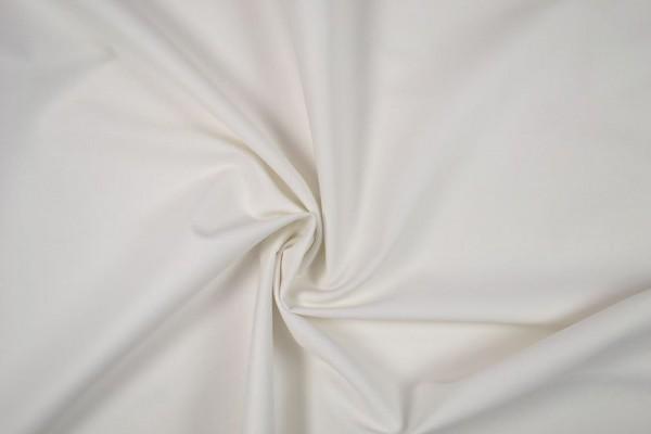 Stretch Baumwolle uni,weiß