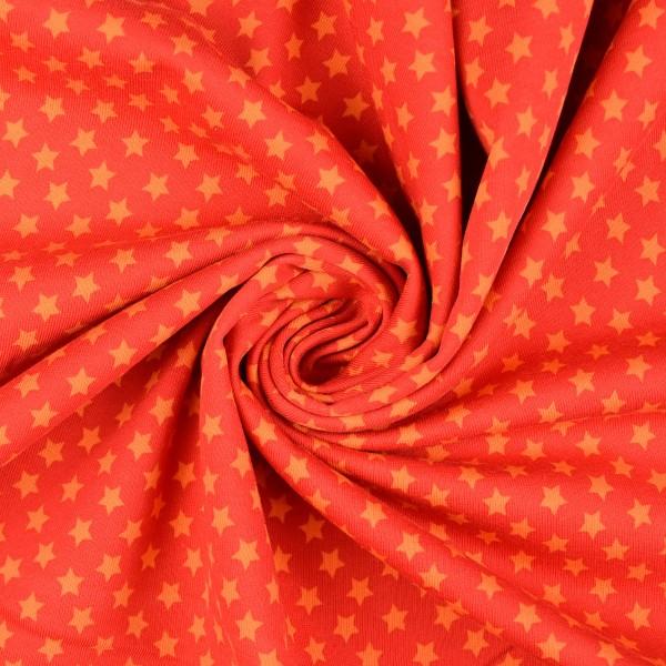 Sweatshirt Sterne angeraut, orange