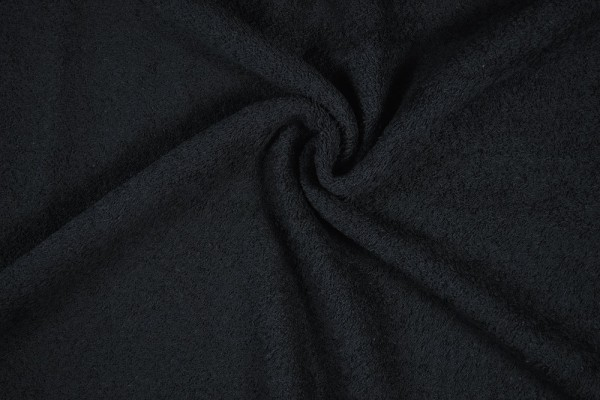 Frottee, schwarz