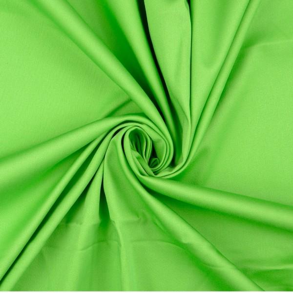 Baumwollsatin elastisch uni, kiwi/grün