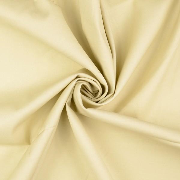 Baumwollsatin elastisch uni, beige