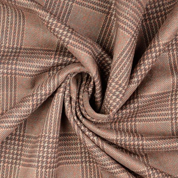 Velvet Scuba Karo-Muster, altrosa/beige