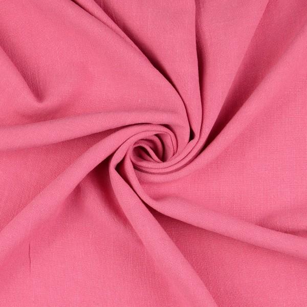 Viskose Leinen uni, pink