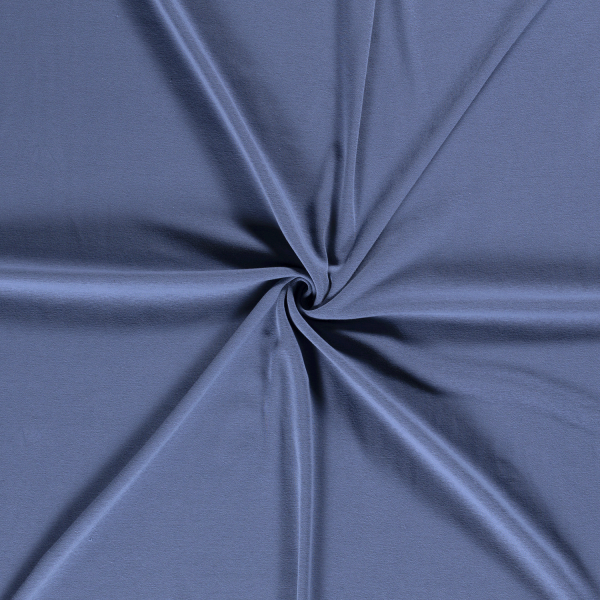 Alpenfleece uni, jeansblau