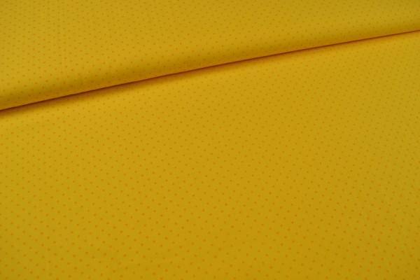 Baumwollstoff kleine Sterne, gelb