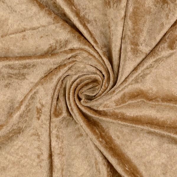 Panne Samt uni, sand