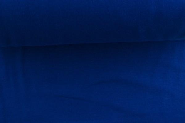 Bündchenstoff glatt, royalblau