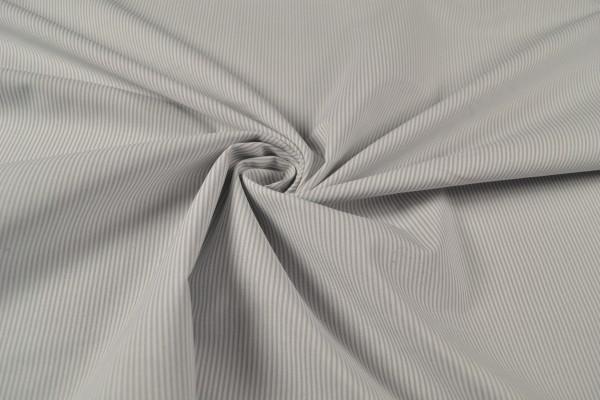 Baumwollstoff gemustert Streifen, hellgrau/ weiß