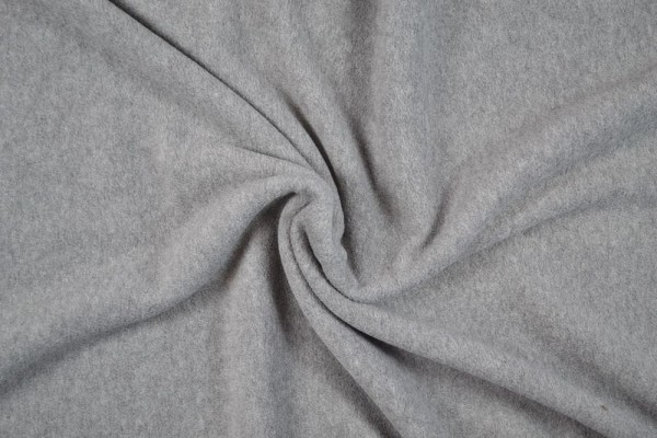 Polar Fleece anti pilling melange, mittelgrau