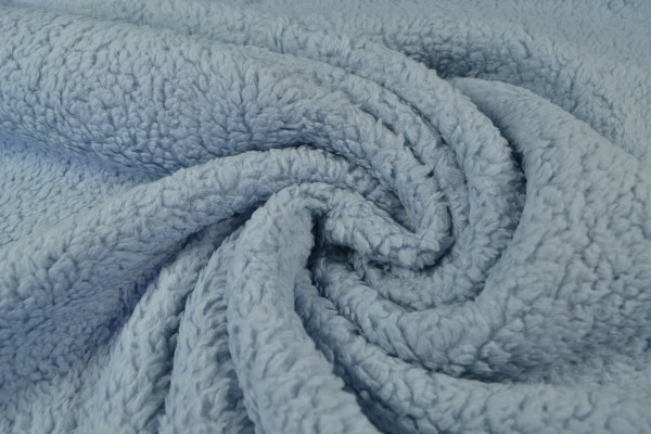 Teddy Baumwoll-Krimmer uni, hellblau