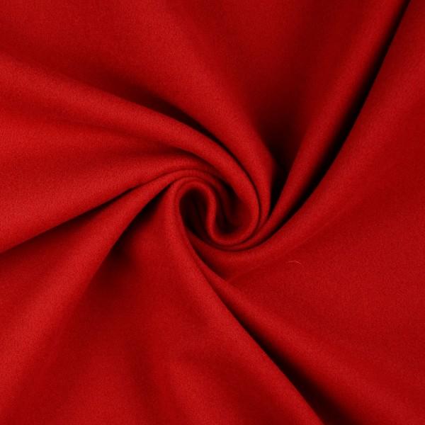 Mantelflausch uni, rot